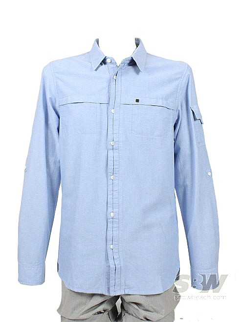 DC CARTER SHIRT LS sky blue