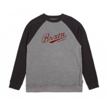 BRIXTON FENWAY CREW heather grey black