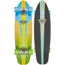 DUSTERS DUSTERS COMPLETE CRUISER GLASSY PINSTRIPE BLUE YELLOW 29