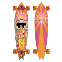 DUSTERS DUSTERS COMPLETE LONGBOARD HENDRIX AXIS BOLD ORANGE PINK 38