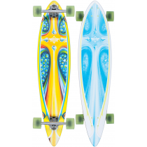 DUSTERS DUSTERS COMPLETE LONGBOARD STORM 39 YELLOW BLUE