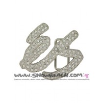 ES BLING BUCKLE silver