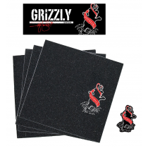 GRIZZLY GRIZZLY GRIP PLAQUE (L'UNITE) PRO SHECKLER INKED RED
