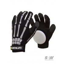 LANDYATCHZ GLOVES BONES SLIDE PUCKS black