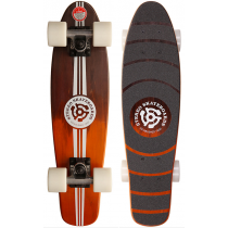 STEREO STEREO COMPLETE CRUISER WOODEN VINYL BLACK ORANGE 23 X 6