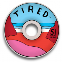 TIRED TIRED WHEELS (JEU DE 4) BEACH 51MM